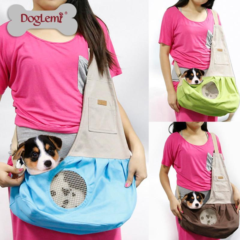 Abbigliamento per cani 2021 Doglemi Pure Color Cat Out Backpacks Borsa in tela Moda Portatile PET PET PRECIND Spalla