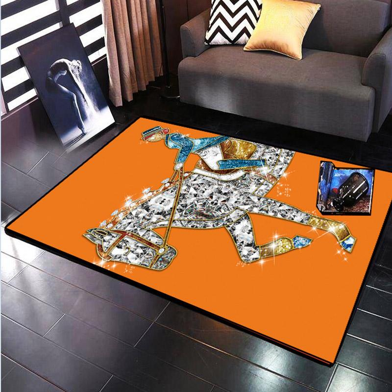 Commercial living room Carpets bedroom sofa trendy brand fashion store Malaysia pattern rectangular custom carpet 21