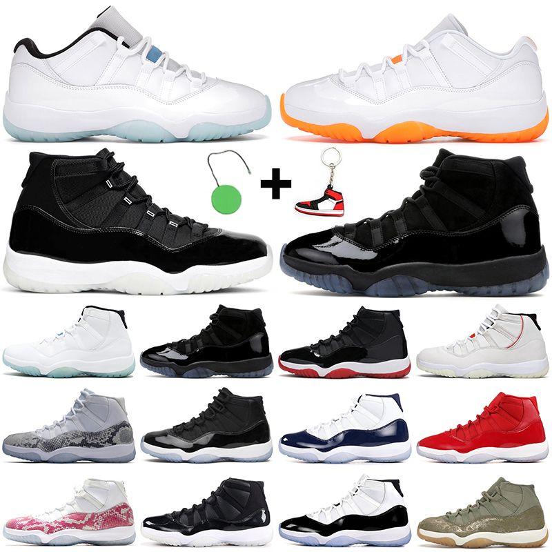 Hotsale الرجعية الجوية الأردن 11 أحذية كرة السلة جورن آنغان 11 ثانية AJ11 الحمضيات الذكرى 25th معلق كونكورد أسطورة فوز الأزرق مثل 82 96 نساء الرجال المدربين أحذية رياضية