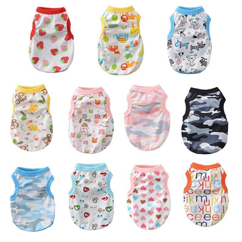 Soft Dog Vest Shirt Puppy Letter Printing Summer Pet Clothes For Dogs Cotton Breathable T Apparel