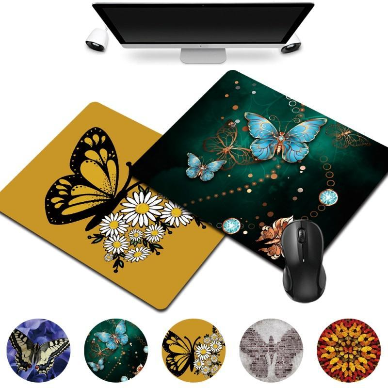 Mouse Pads & Wrist Rests Smooth Gaming Mat Butterfly Pattern Series Anti-skid PU Leather Mousepad Home Office Computer Portable Pad