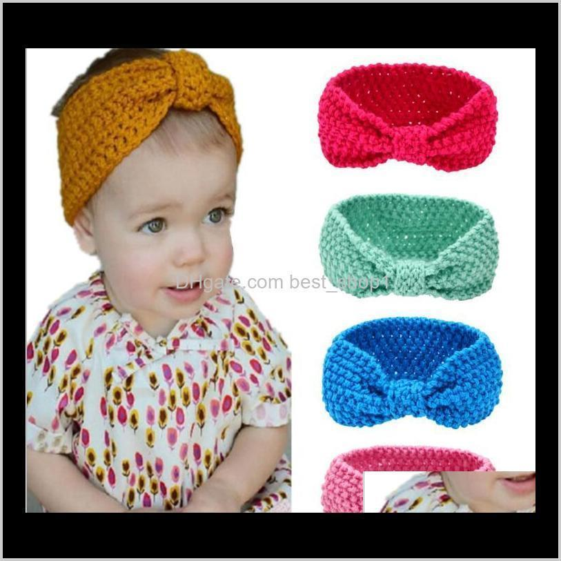 Accessories Baby, & Maternity Drop Delivery 2021 Kids Winter Crochet Warm Headbands Baby Girls Xmas Turbon Knot Knitted Hairband Ear Warmer C