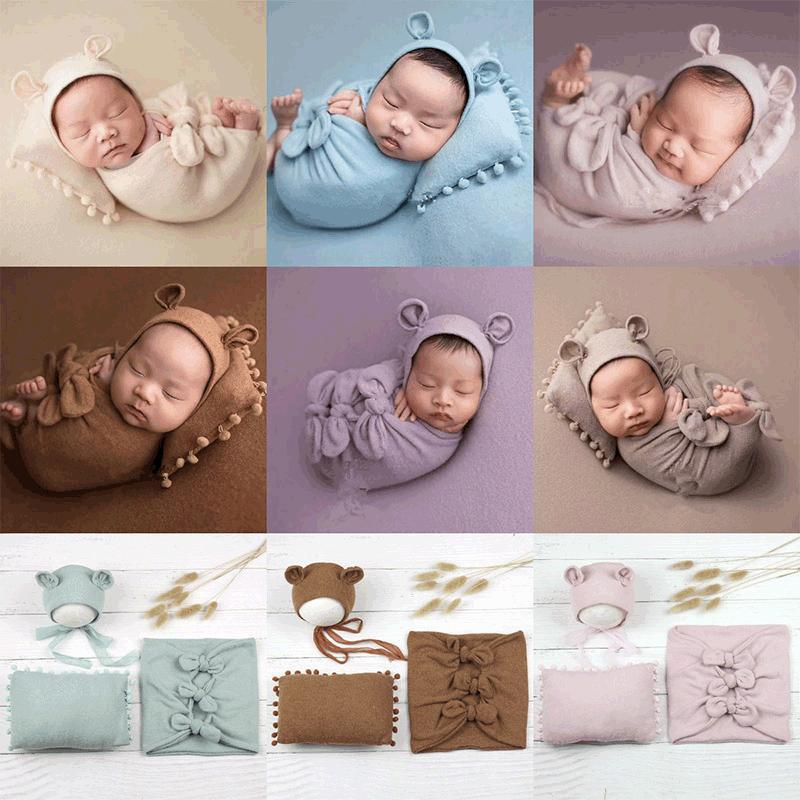 Babyfotografie Requisiten Neugeborenen Fotografie Decke Baby Foto Wrap Swaddling Foto Studio Trieb Zubehör 1420 y2