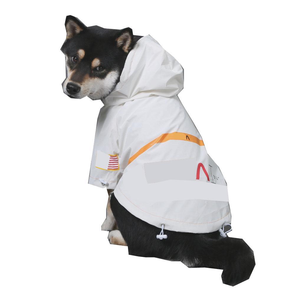 الأبيض عاكس الحيوانات الأليفة معطف سترة إلكتروني طباعة البلوز القط الكلب الملابس تيدي كورجي البلدغ جرو الملابس