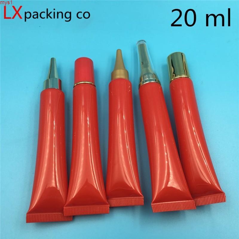 20 g / ml Botella de embalaje suave brillante rojo brillante Brillo Crema de ojos Essence Travel Cosmetic Container Bank Muestra 100 PCSHigh Cantidad