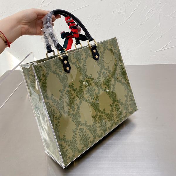 2021 Marka Tasarımcısı Alışveriş Çantası, Kadın Moda Lüks İki Boyutlu Hediye Dönüşüm Çantaları Boyutu 33 * 28 cm