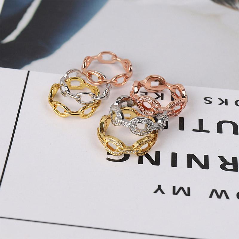 Sky estrela porco nariz anel diamantes sem broca dois estilos 3 cores simplicidade moda anéis