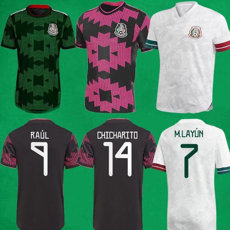 2021 Mexiko Fussball Jerseys Copa America Camisetas 20 21 Fans Spielerversion Chicharito Lozano C.Vela Football Hemden Männer Frauen Kinder Sets Kit