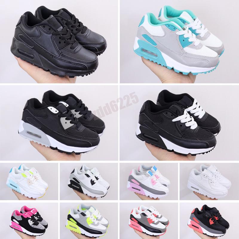 Bambini Sneaker 90 Scarpe da corsa per bambini Black Athletic Nero Pink Baby Baby Sneakers per bambini Sport Ragazze Ragazzi