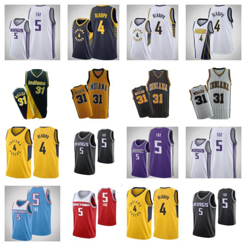 Baju Korb Basketball Jersey4 Victor Oladipo31 Reggie Miller5 de Aaron Foxbasketball Jersey