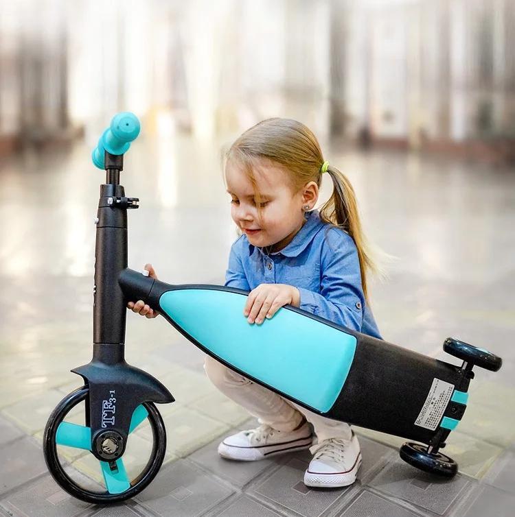 Triciclo de scooter bebê 3 em 1 equilíbrio passeio de carro de bicicleta em brinquedos crianças presentes de Natal de alta qualidade conjuntos de presente