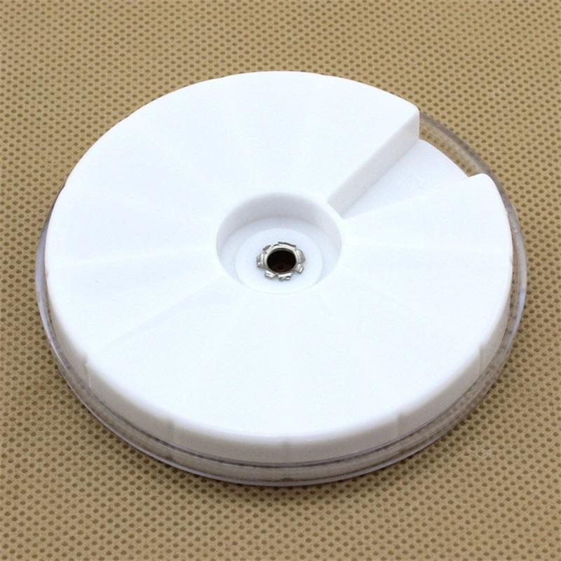 8mm di plastica 12 griglie girevoli rotonde rotondo gioielli fai da te creazione di accessori forniture perline aghi stoccaggio scatole di immagazzinaggio contenitori 1 pz 793 R2