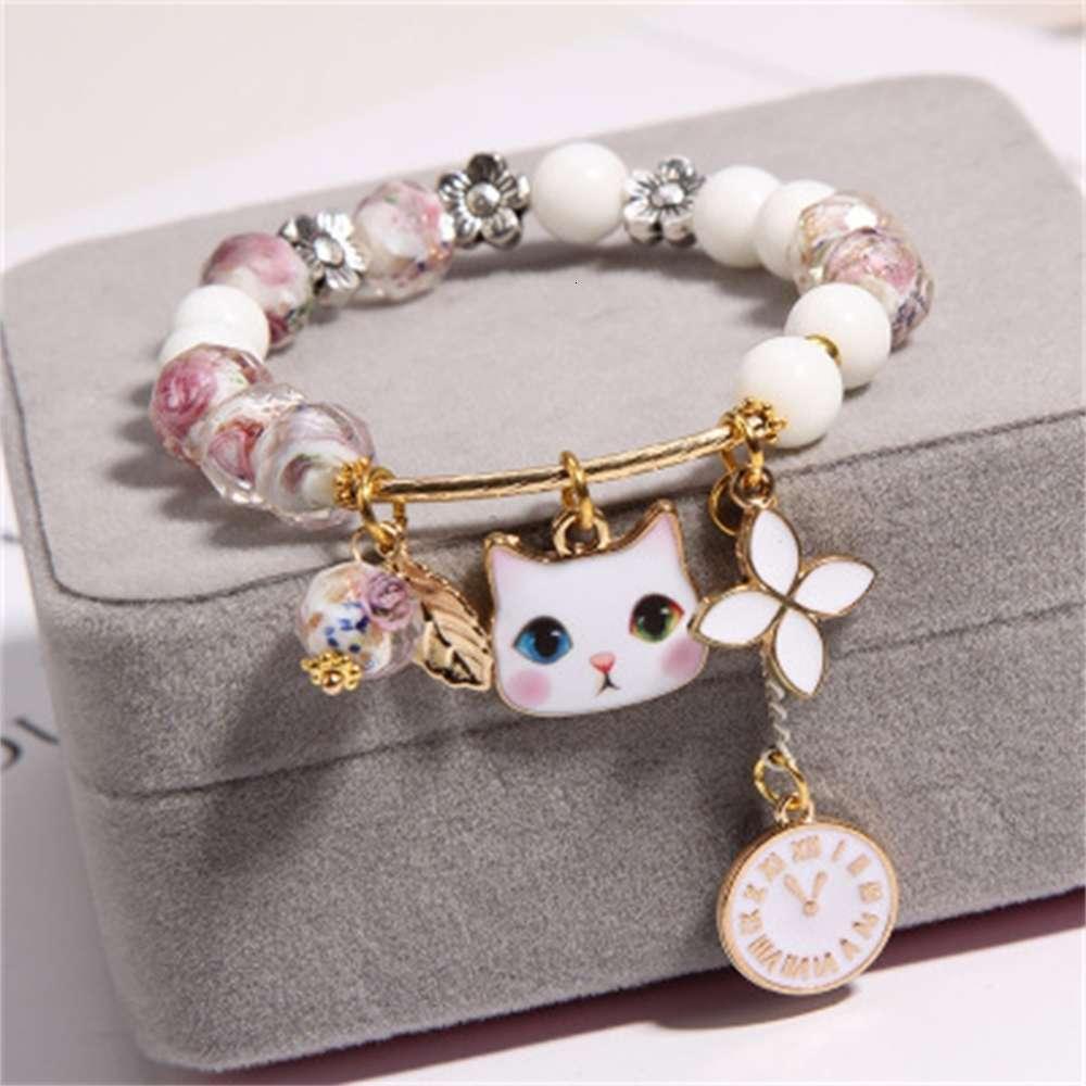 Высококачественные предметы роскошных товаров девочек кристалл корейский детский ювелирные изделия принцесса мультфильм родительский ребенок браслет нет оригинальной коробки