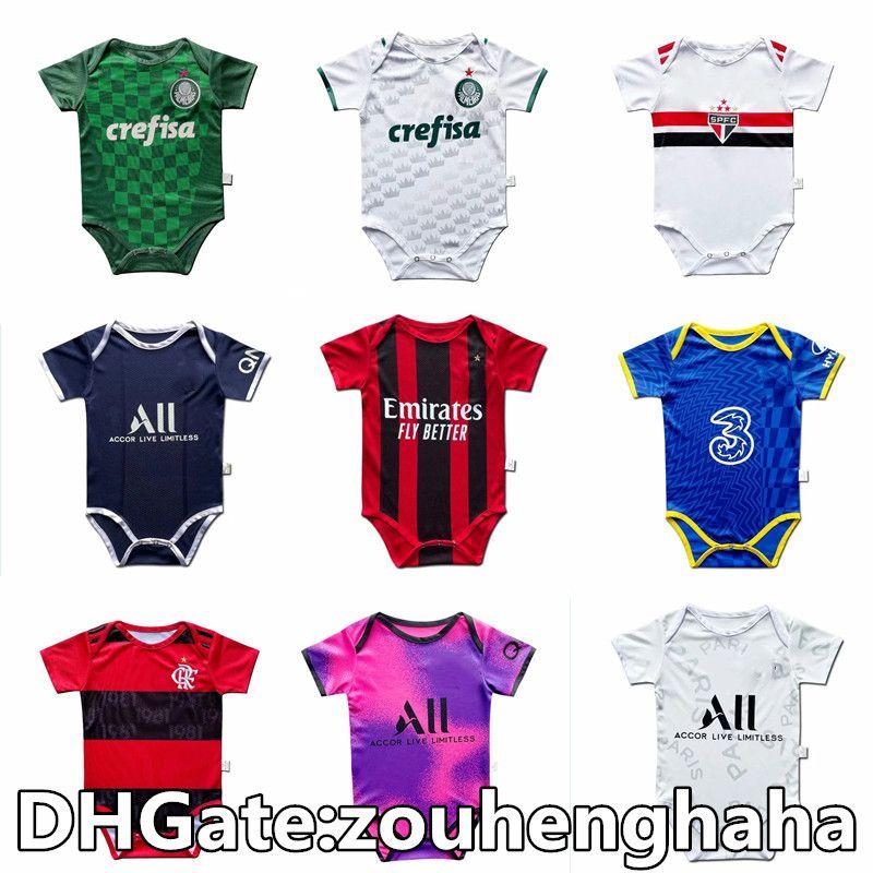 Baby Football Jersey Bufant Homme 2021 22 Utd Bambin 6-18 mois Body Squad Body 20 21 Real Madrid Crawling Vêtements Futbol