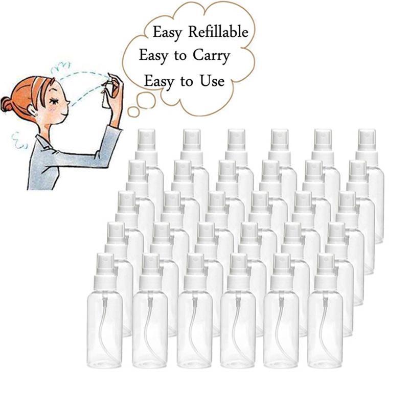 30ml 1oz vazio frasco transparente de pulverizador portátil Botas de névoa de névoa fresca contêiner de atomizador para limpeza e viagem