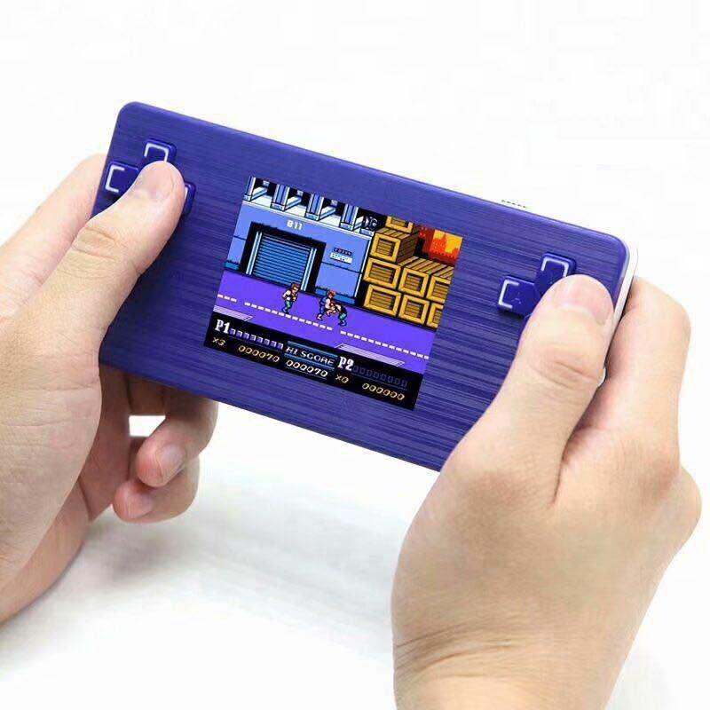 Jugadores de juegos portátiles 2.8 '' Retro 8 Bit PMP Station 6000 TV Family Handheld Video console incorporado 500 y 2 cartas