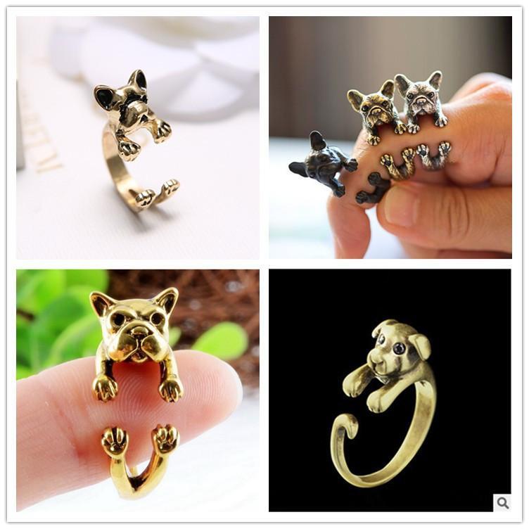 Pug Adjustable Bulldog Animal Ring