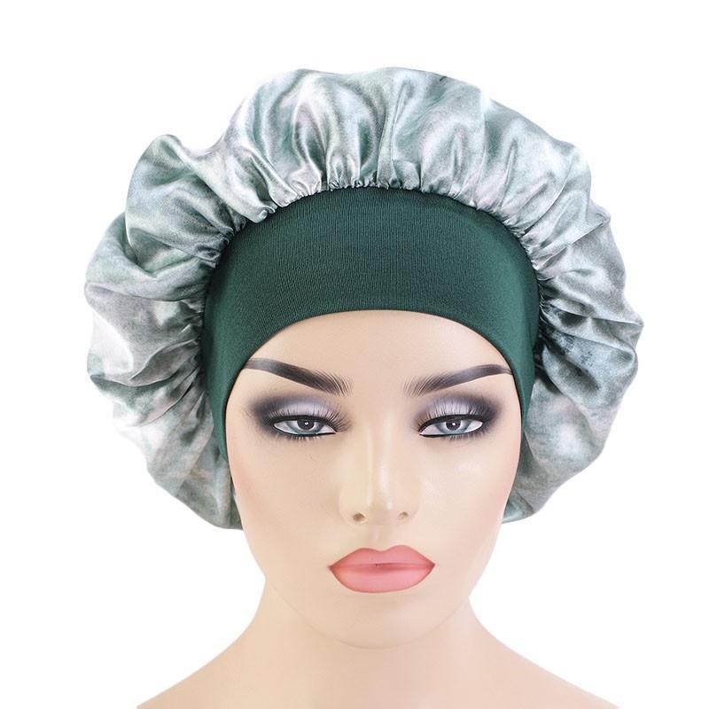 Mujer Bonnet Sombrero Cubierta de cabeza Accesorios Para dormir Noche Capazo Teñido Elástico Satén Cabello de pelo Herramientas Herramientas Beanie / Tapas de cráneo