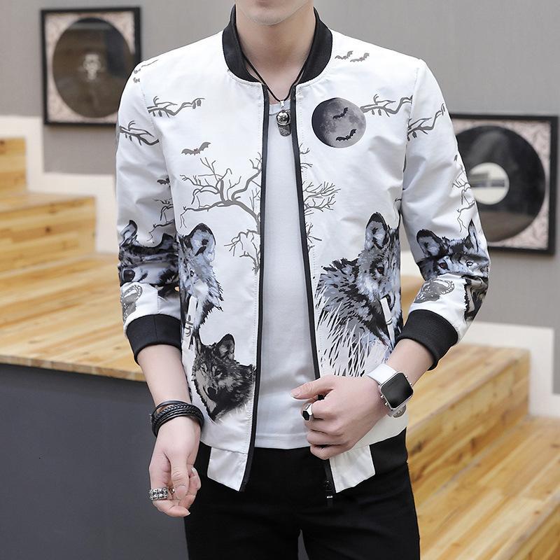 Männer Jacken Herbstjacke Jugend Fit Mode Trend Casual Herrenmantel