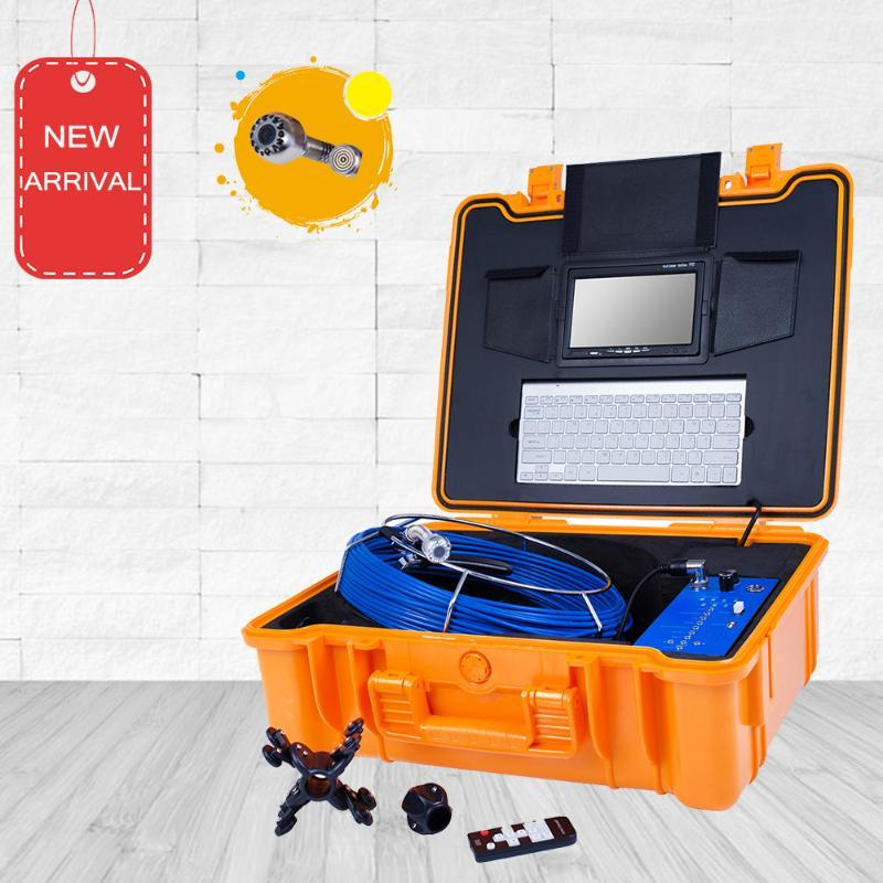 Tubo de la cámara de inspección de alcantarillado de control remoto Limpie 25 mm Lente endoscopio de 7 pulgadas Monitor de 7 pulgadas HD Cámaras IP