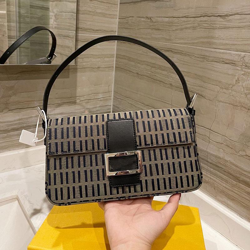 Handbag Purse Crossbody Bag Vintage Baguette Hand Bags Canvas Fashion Letter Totes Removable Shoulder Strap Handbags Wallets