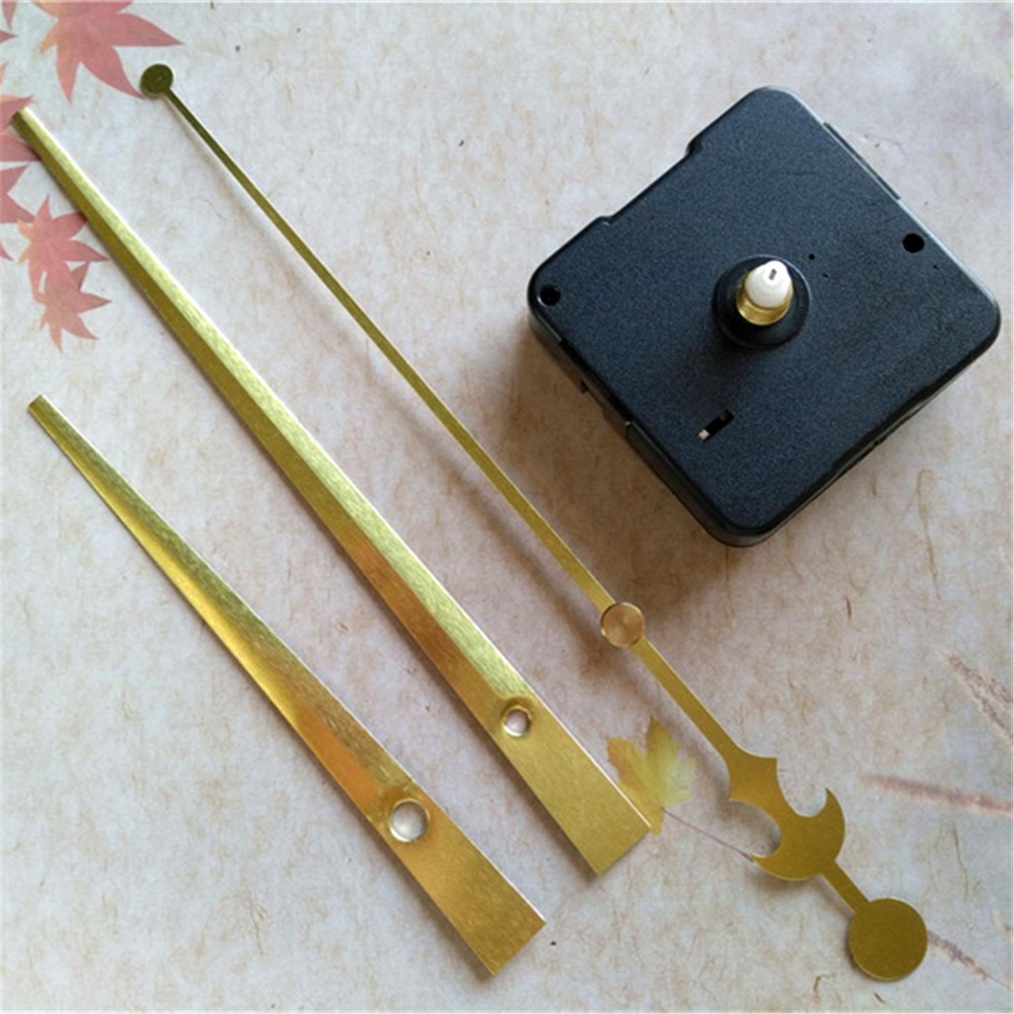 Commercio all'ingrosso 50 set 12mm Sweep Sweep Skillet Diame Quartz Orologio Movimento Meccanismo Riparazione kit con lunghe mani in oro