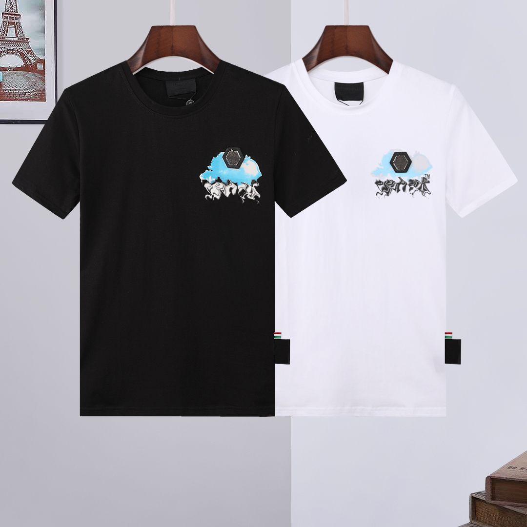 Phillip Paint Men PP дизайнерский череп алмазный футболка с коротким рукавом бренд весна и летнее высокое условное качество косточковых череп футболки 03