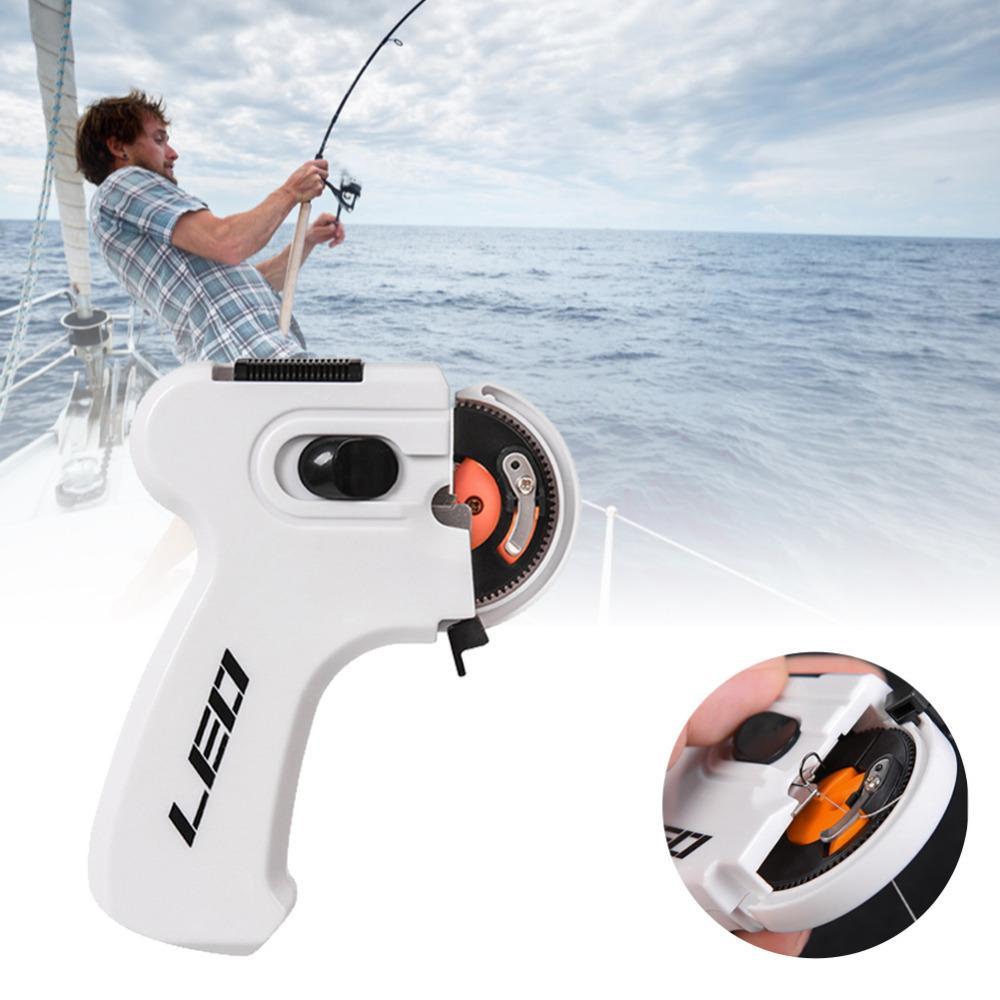 2021 Nuevo Dispositivo de Leo Electric Automatic Pesca Knot Intentando Herramienta Herramienta Multi-Función Gancho Aguja Annotador Accesorios de FightLine Winder