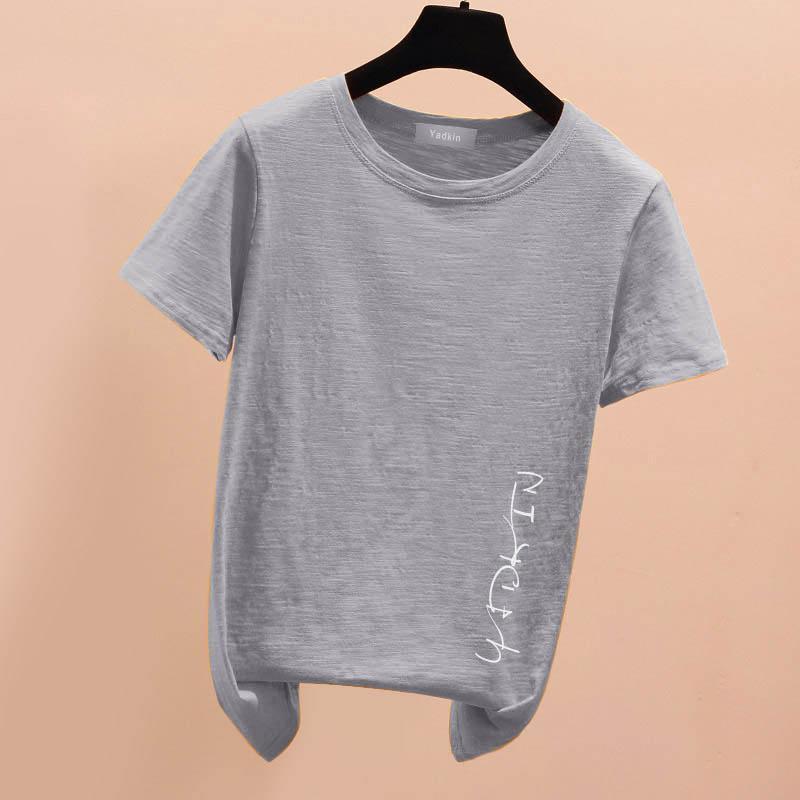 T-shirt da donna casual da donna a manica corta traspirante estate classica
