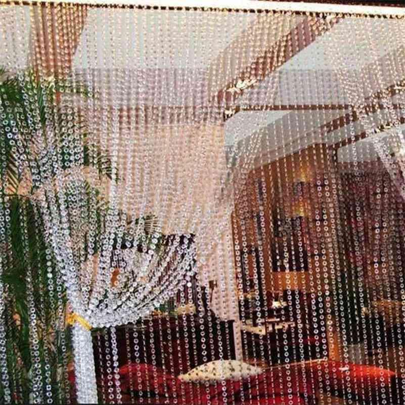 1 Roll 99FT 30M Beads Curtain Acrylic Crystal Curtain Octagonal Bead Curtain on the Door Festive Party Home Wedding Decoration 210623