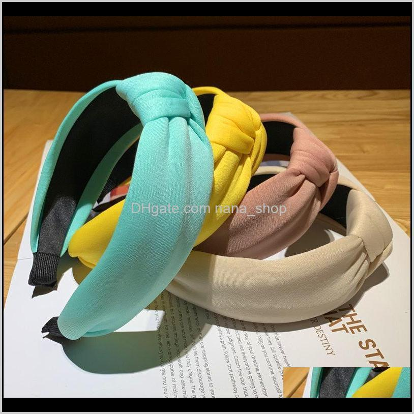 Ferramentas Produtos Drop entrega 2021 Moda Doces Esponja Mulheres Hairbands Bow-Nó Meninas Headbands Ladys Headwear Cabelo Aessórios LG7KQ