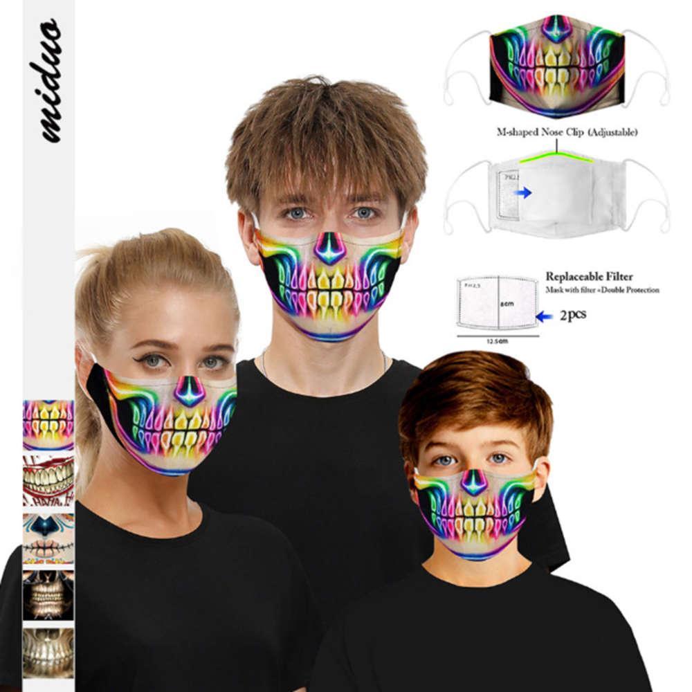 Dijital 3D Baskı Desen Filtresi Toz ve Haze Koruma Yetişkin Çocuk Sıcak Pamuk Maskesi