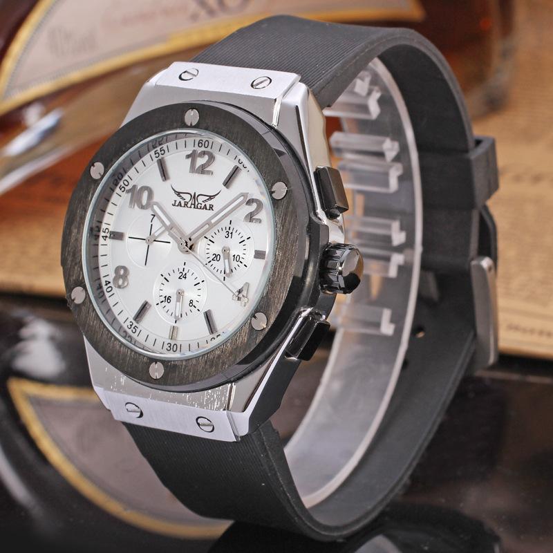 Jaragar negócio masculino moda lazer relógio mecânico automático
