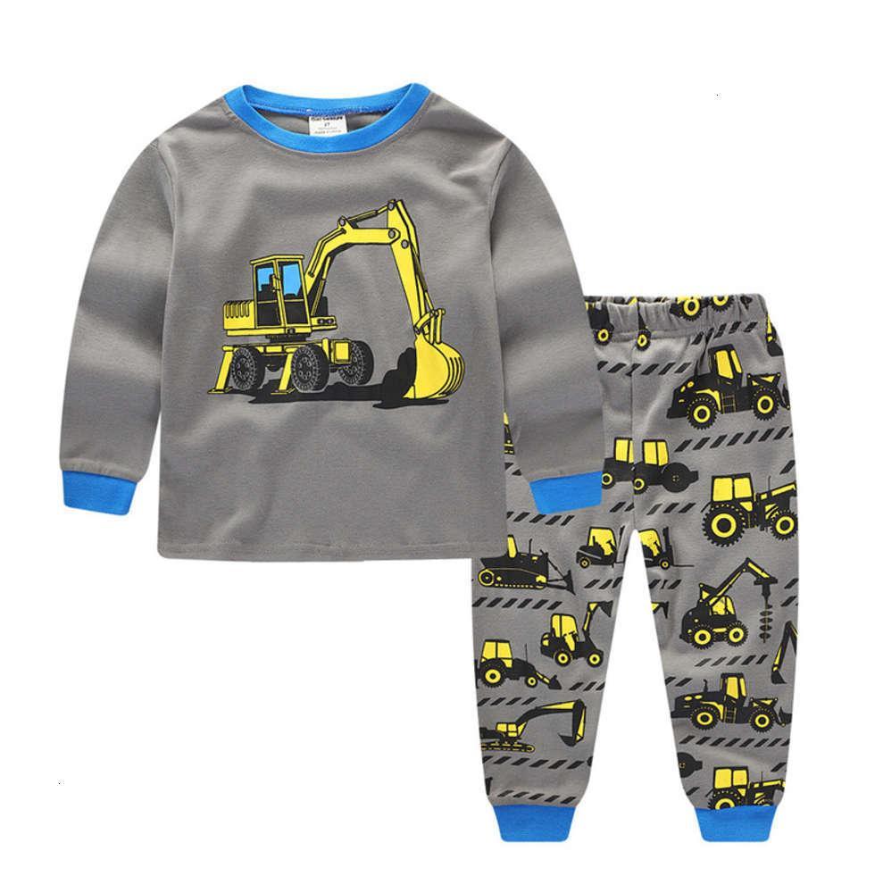 Pyjamas Tir physique Vêtements Enfants Automne Enfant Sous-vêtements Pure Coton Pure Coton Homme Feely Wear Set de base