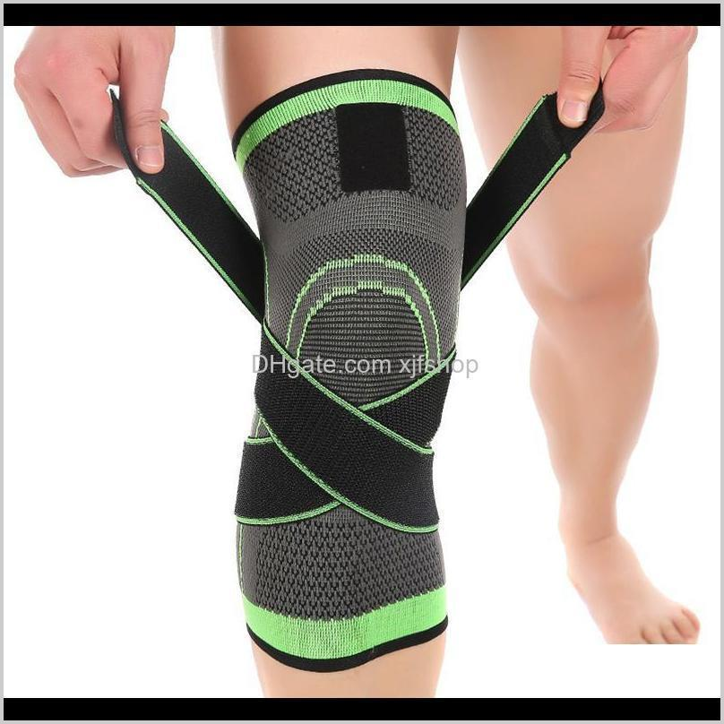 Elbow Pads Outdoor Sports Knee Compression Brace For Men Women Non Slip Sleeve With Straps Breathable Knit Kneepad Edf88 Yypda Fs2S8