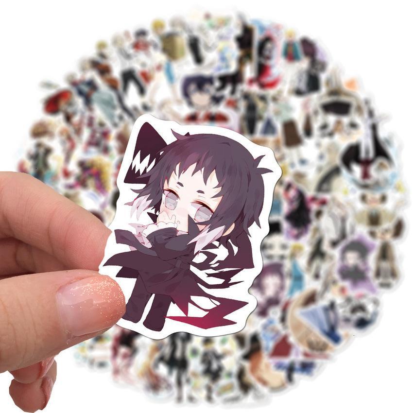 Anime 100 / 50pcs ZWERFHONDEN DAZAI OSAMU NAKAHARA CHUYA Pegatinas Paquete automático Pegatina para computadora portátil Voor Cuaderno 8B7J