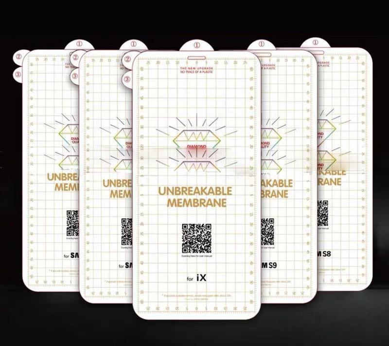 Protector de pantalla suave de la membrance inquebrantable CUBRADA CUBIERTA CUBIERTA CUBIERTA CUBIERTA CUBRE LA EXPLOSIÓN DE PELÍCULA DE HIDROGEL PARA IPHONE 13 PRO MAX 12 MINI 11 XS XR X 8 7 6 6S PLUS SE