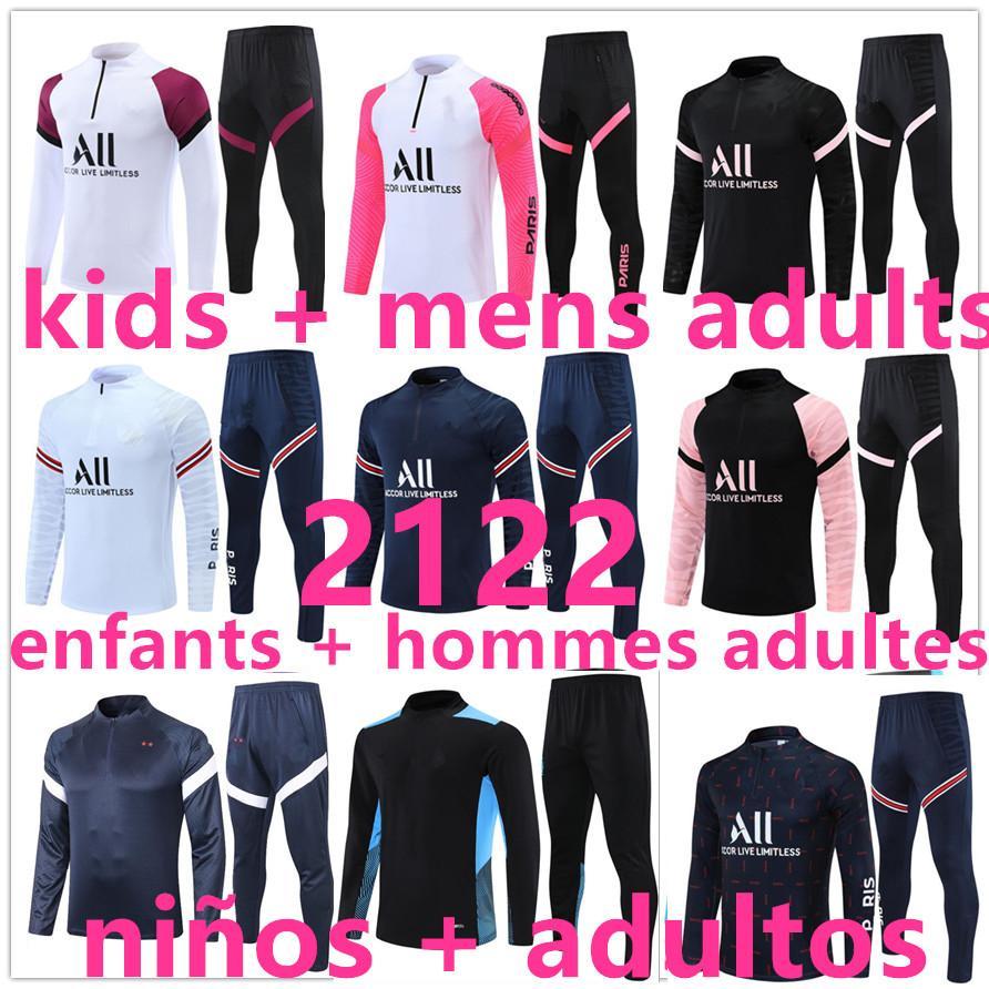 kids Enfants + men  adultes 20 21 Real Madrid  psg survêtements de marque pour hommes survêtement survetement foot soccer tracksuit football training