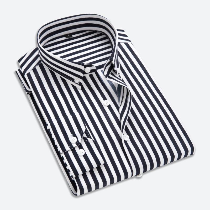Qualität Männer Kleid Hemd Mens Business Casual Button Down Hemden Marke Kleidung Slim Fit Langarm Camisa Masculina M-5XL Herren