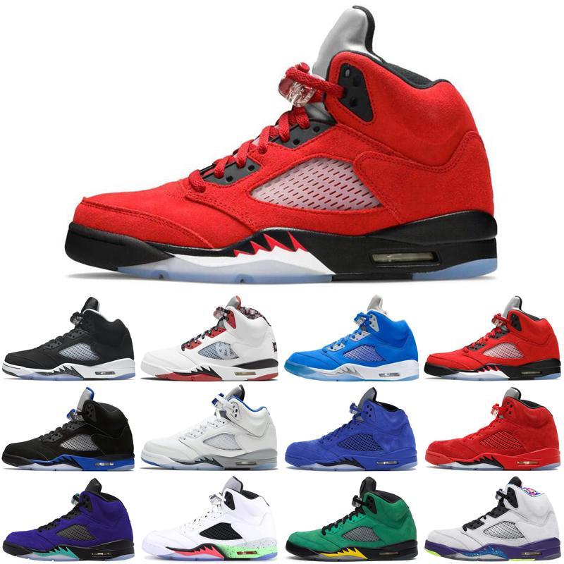5s 5s Hommes Chaussures de basketball Oreo Quai 54 Bluebird Quel est le feu rouge Stealth Oregon Ducks Baskets de sport Taille 7-13 Mode