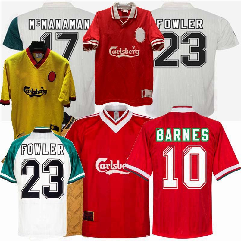 الرجعية لكرة القدم الفانيلة FOWLER BERGER BARNES MCMANAMAN REDKNAPP 1993 1994 1995 1995 1997 1998 الصفحة الرئيسية قميص كرة القدم الثالث