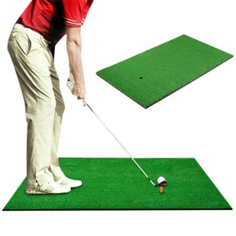 Golf Practice Mat, Combat Artificial Turf Nylon Green Swing Indoor Personal Training Available Aids