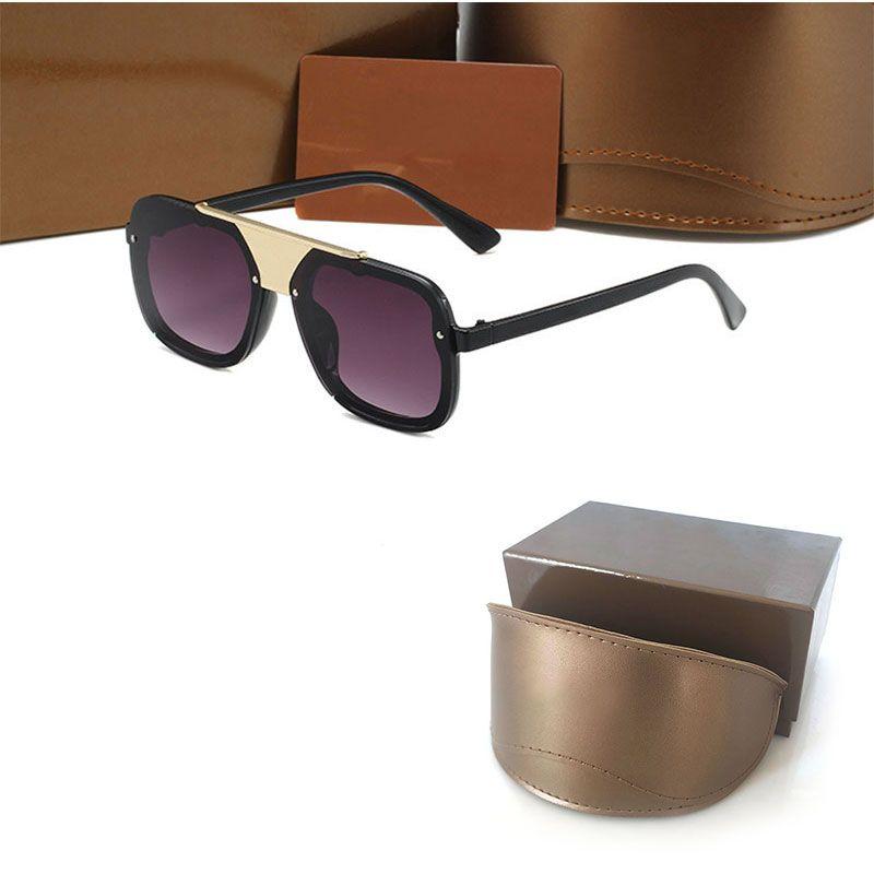 Högkvalitativ designer Womans Solglasögon 0759 Lyxiga Mens Sun Glasögon UV Skydd Män Glasögon Gradient Metall Hinge Fashion Women Spectacles med ursprungliga lådor