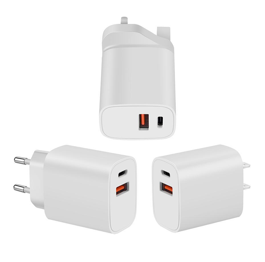 20W PD 3.0 Адаптер быстрого зарядного устройства для Apple iPhone 12 Samsung Huawei EU US US UK Plug USB Тип C Зарядные устройства