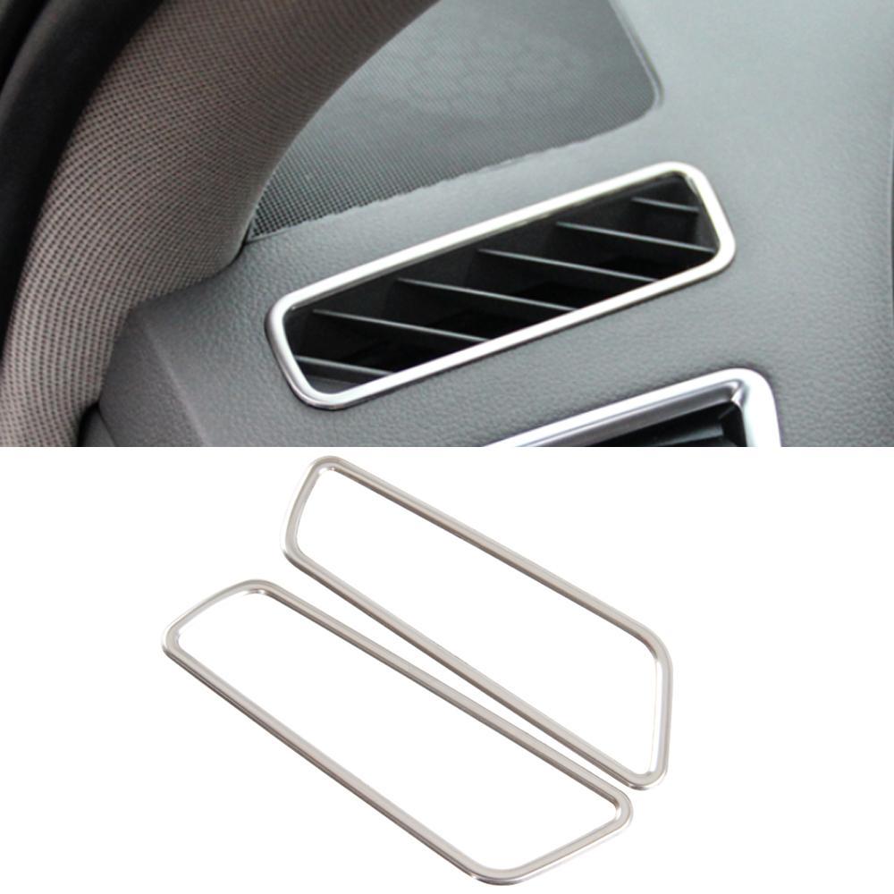 Audi Q5 8R 2012-2016 Araba Aksesuarları Dashboard Panel Yan Hava Havalandırma Kapağı Çerçeve Sticker Trim Paslanmaz Dekorasyon Kalıp