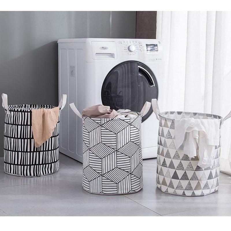 Picknickkorb Wäsche Spielzeug Aufbewahrungsbox Super Große Tasche Baumwolle Waschen Schmutzige Kleidung Big Organizer Bin Griff Taschen