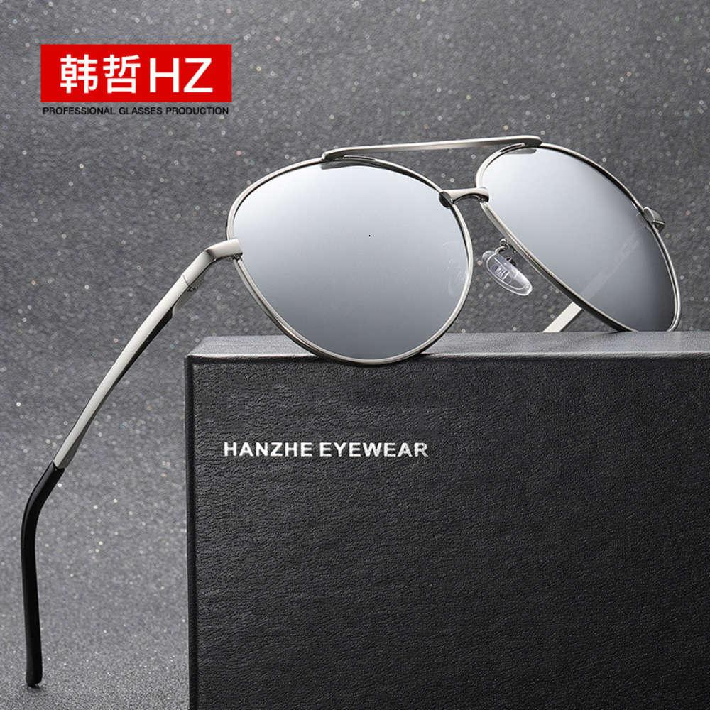 Nuevo gafas de sol polarizadas para hombres y mujeres 8009 montando vidrio recto