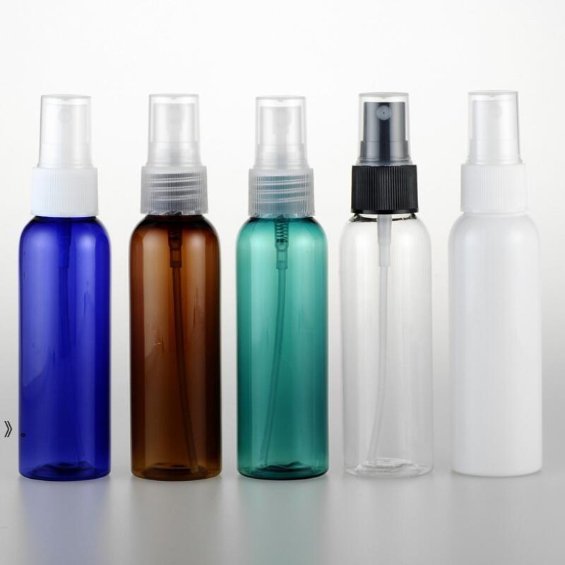 60ml Brown Brown Pet Bottle Spray 2 Oz Vuoto Perfume Atomizzatore Bottiglie Set di Viaggio Set Mist Spruzzatore Pompa Cosmetico Imballaggio cosmetico per le donne OWE9694