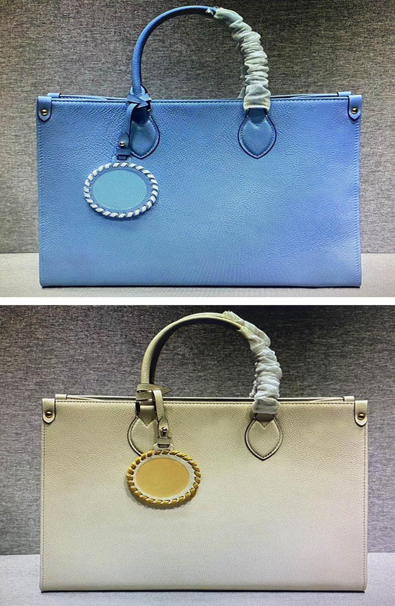 На ездых сумки сумки средней сумки для женщин роскоши дизайнеров дизайнеров сумки с тиснением кожаный градиент цвет кошелек модные сумки женские мм onthego сумка
