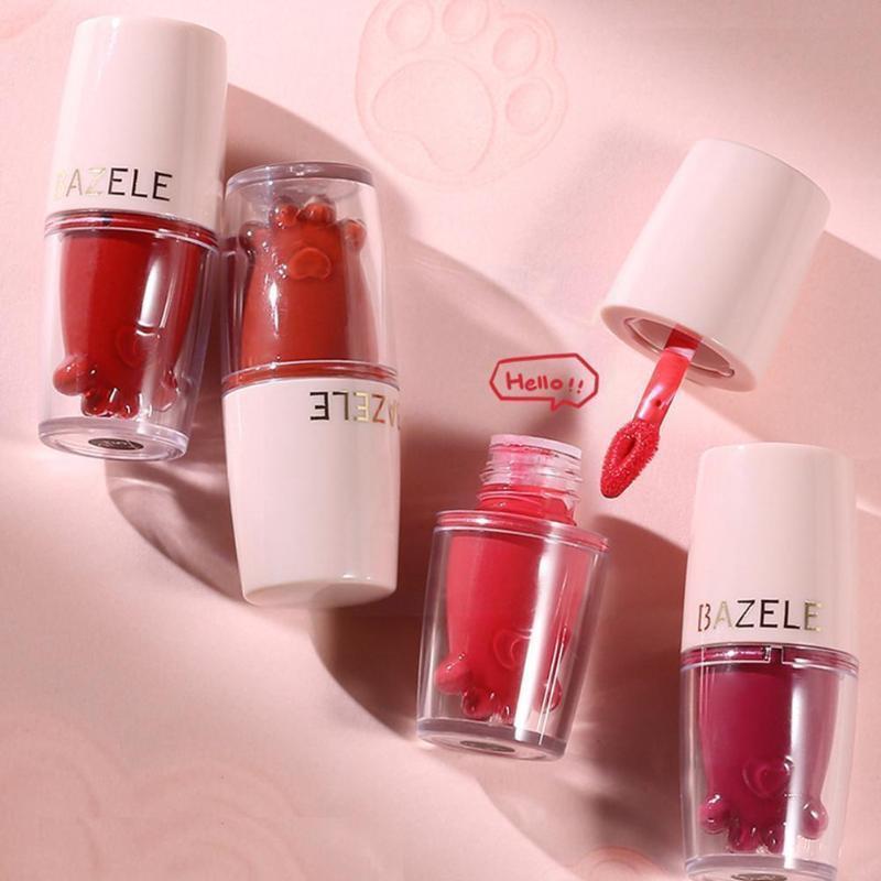 Lipgloss 15 Farben Make-up-Lippenstift, nicht leicht, niedlich feuchtigkeitsspendende Mattglaskranzkatze-Pearlesc t7o7 zu verblassen